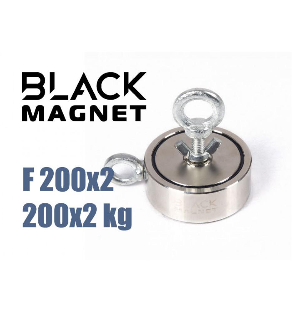 Magnes neodymowy Black Magnet F200x2